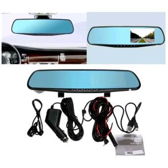 HD 1080p Monitor Dual Len In-Car Reversing Camera Cam DVR Rear View Mirror