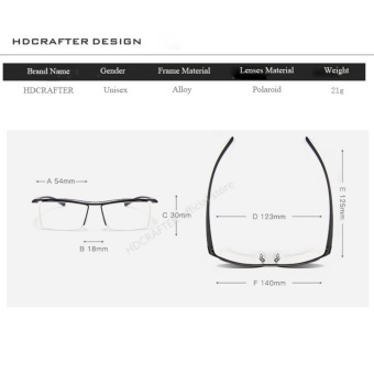 HDCRAFTER Eyewear Rimless Square Myopia Frame Glasses Frame Men Brand Comfortable Slip-resistant Eyeglasses Frames for Men E004 - 3