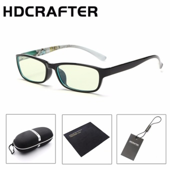 HDCRAFTER Retro Anti-fatigue computer radiation proof eyeglasses frame flat anti blue light TR90 glasses