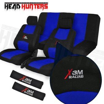 Head Hunters X3M Universal Fit Nylon Car Seat Cover Set (Blue)