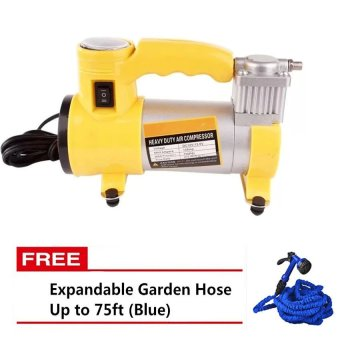 Heavy Duty Air Compressor (Yellow) with Free Magic Hose 125ft