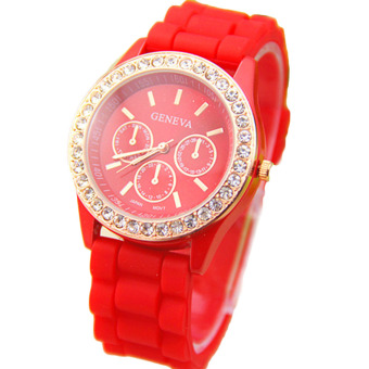 Hequ Silicone Fashion Jelly Watch (Red)
