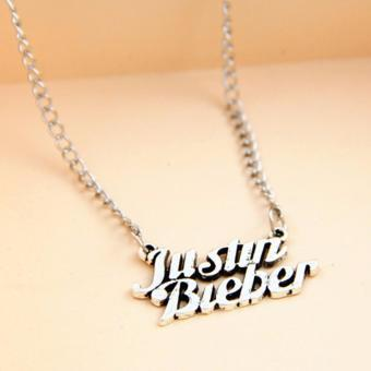 Hequ Vintage justin bieber collares mujer silver chain choker necklaces pendants for women jewelry bijoux colliers women - intl
