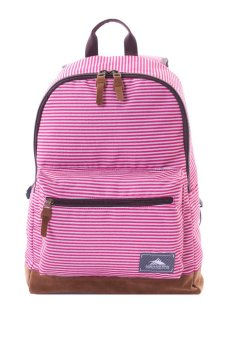 High Sierra Urban Backpack Icon Slim Pack (Pink Stripes)