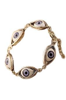 HKS Chain Bracelet Women Fashion Lucky Evil Eye Silver - Intl