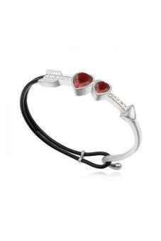 HKS Cupid Austria Crystal Bracelet (Red) - Intl