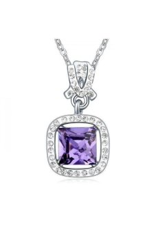 HKS Day and night Austria Crystal Necklace (Pale pinkish purple violet) - Intl