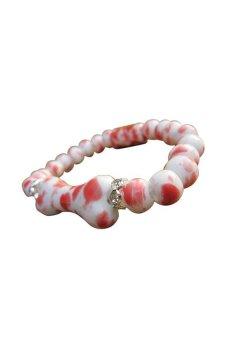 HKS Ethnic Lovely Bones Ceramic Beaded Bracelet - Intl
