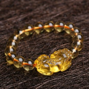 HKS genuine opening of natural Brazilian citrine bracelet bracelets Lucky brave men and women shall transfer evil spirits - citrine pendant single paragraph - Intl