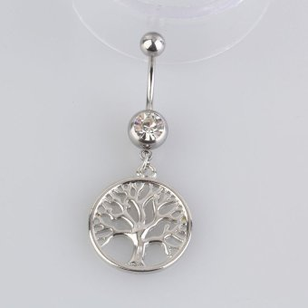 HKS Handcrafted Tree of Life Dreamcatcher Belly Ring Navel Ring Body Piercing - Intl - picture 2