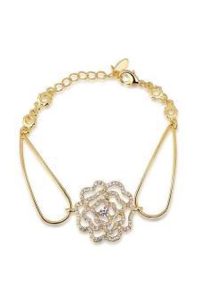 HKS HKS76531294360Ai 18K Gold Plated Rose Bracelets for Rose Gold - Intl