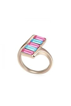 HKS Midnight Passion Austria Crystal Ring (Color Rose Gold) - Intl