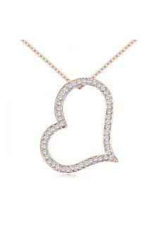 HKS S and F HKS82618Qs Mental Space Austria Crystal Necklace (White) - Intl