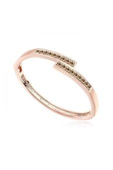 HKS Thousands Of World Austria Crystal Bracelet (Golden Shadow Rose Gold) - Intl