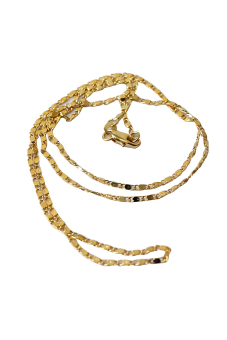 HKS Yellow Gold Filled Rolo Chain Necklace - Intl