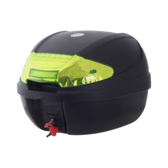 HNJ 002 Tail Trunk Luggage Motorcycle/Scooter Top Box -(Black/Yellow)