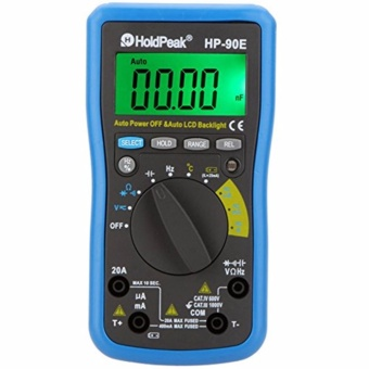HoldPeak HP-90E Digital Auto Range DMM Multimeter DC AC Amp VoltOhm Freq Cap Temperature Meter Battery Tester with Auto LCDBacklight - intl Price Philippines
