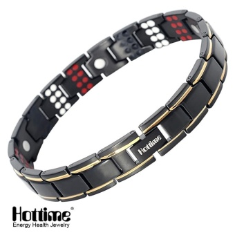 Hottime 109 PCS Bio Elements Energy Stone 3500 Gauss MagneticTherapy Germanium Bracelet 4 IN 1 Men's Fashion Health Jewelry10155 - intl