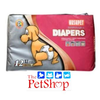 Hush Pet Dog Disposable Diapers (XL 12'S Breathable)