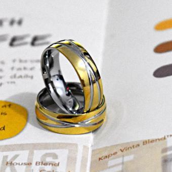I am Wengski Adonis Couple Wedding Ring (Two Toned) - 3