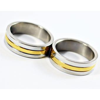 I am Wengski Andrei Couple Wedding Ring (Two Toned)