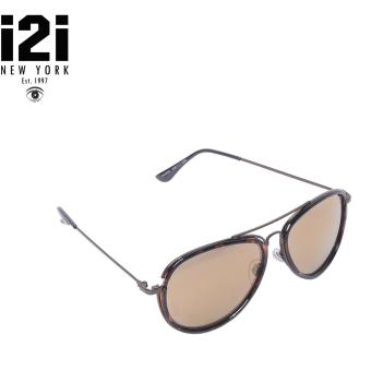 i2i New York Duhamel KM0118 Sunglasses (Mirrorized Brown)
