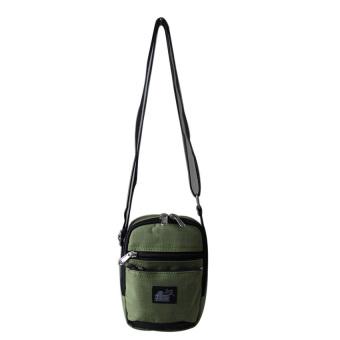 ILLUSTRAZIO Durashield Water Repellant Sling Bag (Green Black)
