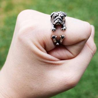 Lieblings Schatz pug ring (silver) Price Philippines