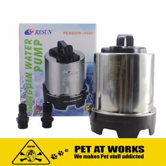 Harga Resun Penguin Water Pump 4500 Stainless Steel 110W (4500L/H) For Fish Pond, Fresh Water, Marine Tank and Koi Pond