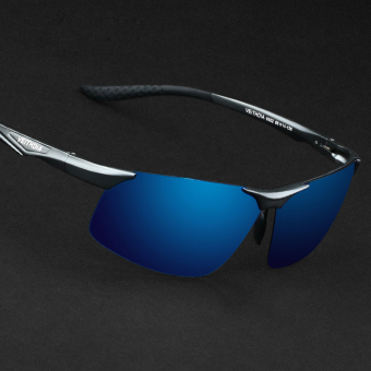 VEITHDIA 2366 Polarized Sunglasses Men gun frame blue lens Price Philippines