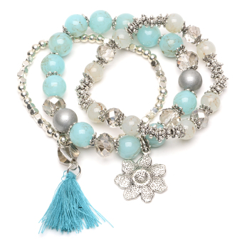 Athena & Co. Beaded Fiji Bracelet (Turquoise/Silver) Price Philippines