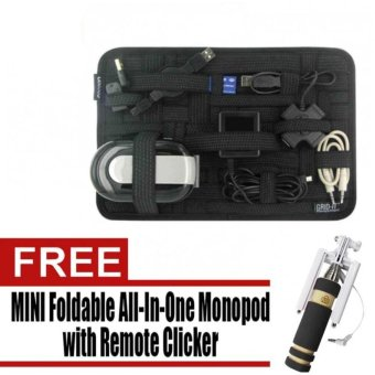 Grid It Travel Organizer (Black) with Free Mini Foldable All-In-One Monopod with Remote Clicker Price Philippines