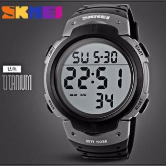 Harga SKMEI Outdoor Pioneer Sports Digital Black Strap (Black and Silver)