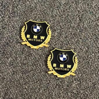 2pcs Golden Emblem Badge for BMW Cars Price Philippines