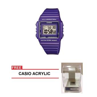 Casio Standard Series Women Purple Resin StrapWatch W-215H-6AVDF (FREE CASIO ACRYLIC) Price Philippines