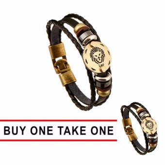 GMY Buy One Take One Men and Women Zodiac Sign Leather Bracelet (Leo) Price Philippines