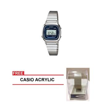 Casio Vintage Series Women Silver Stainless Steel StrapWatch LA670WA-2DF (FREE CASIO ACRYLIC) Price Philippines