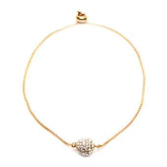 Harga Athena & Co. Diamond Pave Ball Bracelet (Gold)