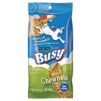 Harga Purina Busy Chewnola Small Medium Dog Treats 113g
