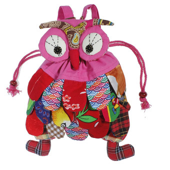 Kid Children Colorful Owl Bird Animal Cartoon SchoolBag Backpack Bag Mochila Price Philippines