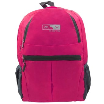 MV Unisex Travel Foldable Backpack (Pink) Price Philippines