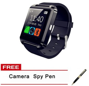 Harga C-001 V3.0 Bluetooth Touch Screen Smart Watch (Black) and FREE Spy Pen Camera