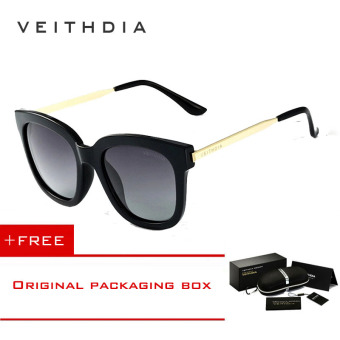 VEITHDIA TR90 Women's Driving Sun glasses Polarized Mirror Lens Luxury Ladies Designer Sunglasses Eyewear For Women 8025 (black-gray) [ Buy 1 Get 1 Freebie ] Price Philippines