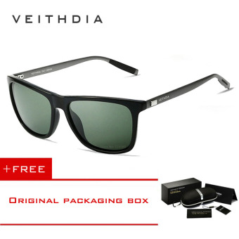 VEITHDIA Brand Unisex Retro Aluminum+TR90 Sunglasses Polarized Lens Vintage Eyewear Accessories Sun Glasses For Men/Women 6108 (dark-green) [ Buy 1 Get 1 Freebie ] Price Philippines