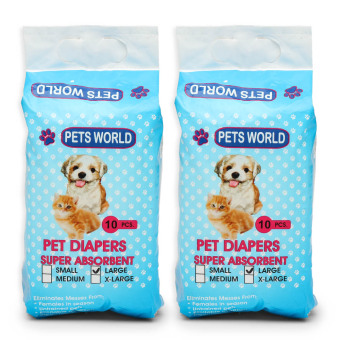Harga Pets World 10-Piece Large Pet Diapers (Set of 2)