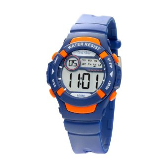 Harga UniSilver TIME Pop-Top Children's Blue / Orange Digital Rubber Strap Watch KW2263-2003