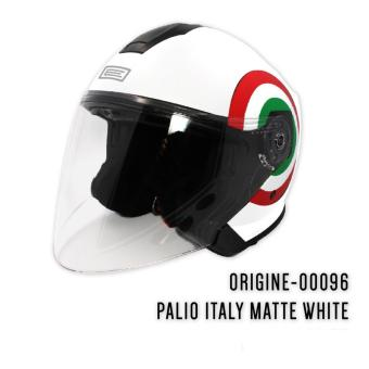 Harga ORIGINE 00096 Palio Italy Matte White Open Face Helmet (2017 Collection) - XL