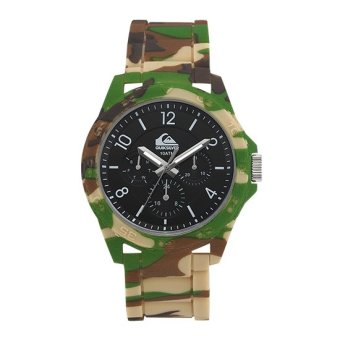Harga QuikSilver The Summit Men Camouflage Silicone Strap Watch QS-1016BKGN