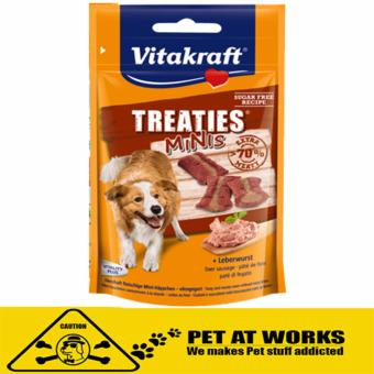 Harga Vitakraft Treaties Minis Liver Sausage 48g for pets and dog food