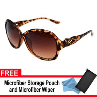 Iwear Collection Women's Fashion Sunglasses 8321 (Brown Lens) with FREE Microfiber Storage Pouch and Microfiber Wiper Price Philippines